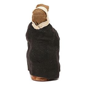 Vecchietto seduto con bastone presepe napoletano 10 cm s4