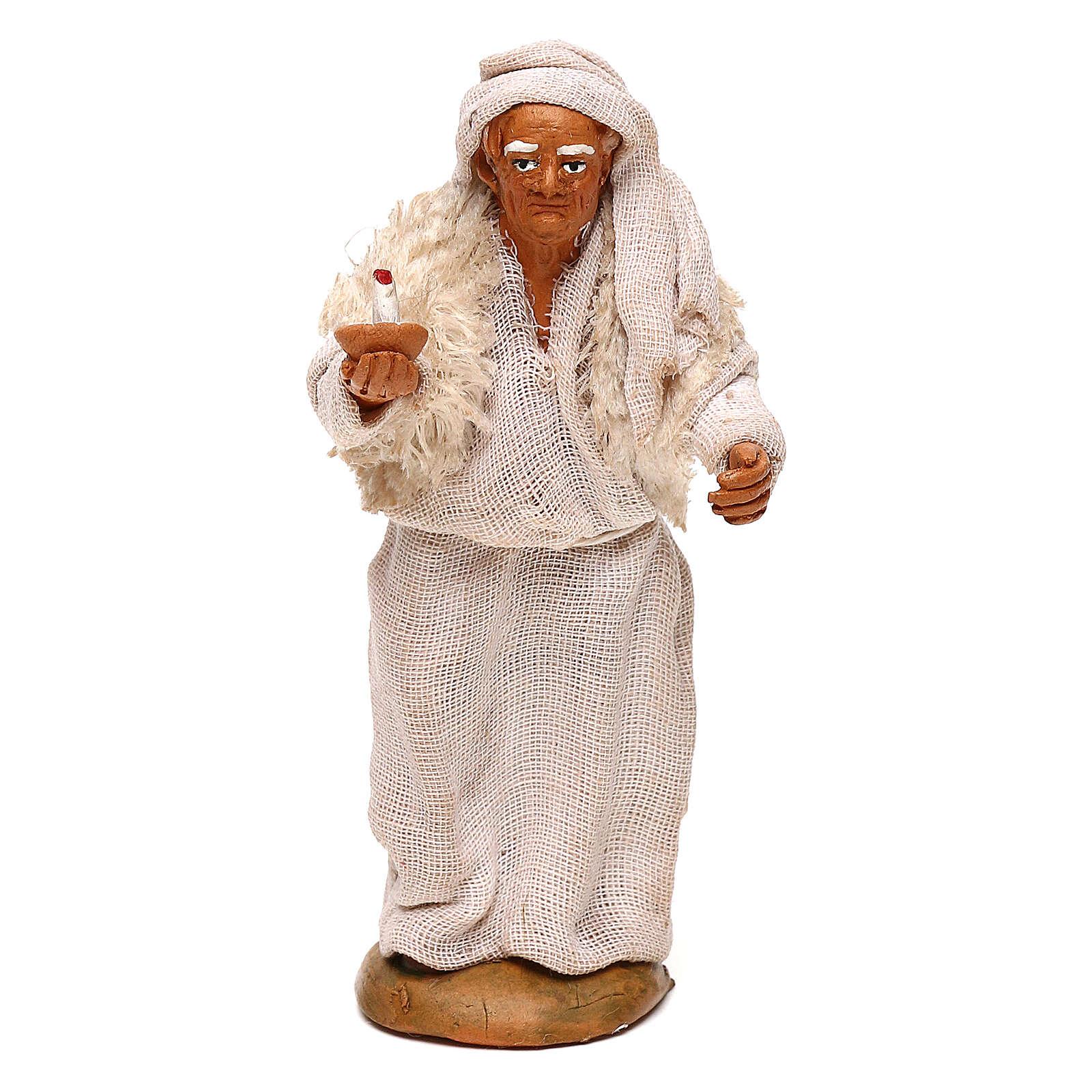 Viejo con vela belén napolitano 10 cm 4