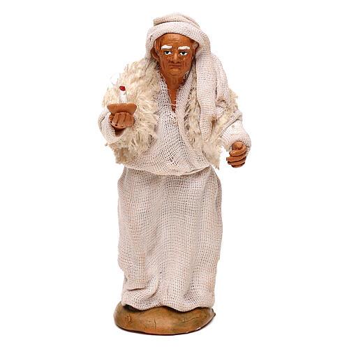 Viejo con vela belén napolitano 10 cm 1