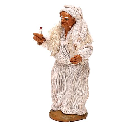 Viejo con vela belén napolitano 10 cm 2
