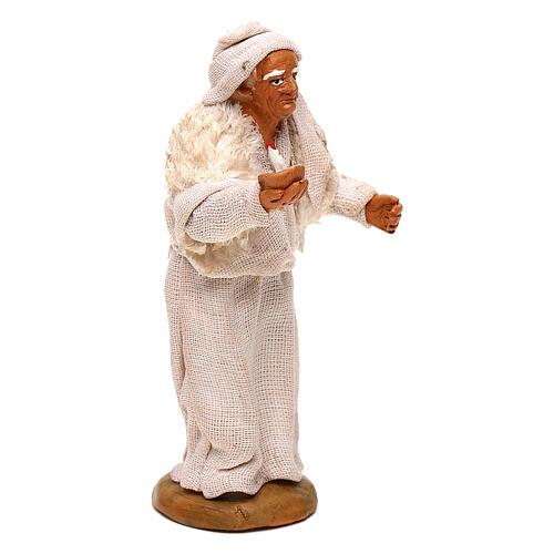 Viejo con vela belén napolitano 10 cm 3