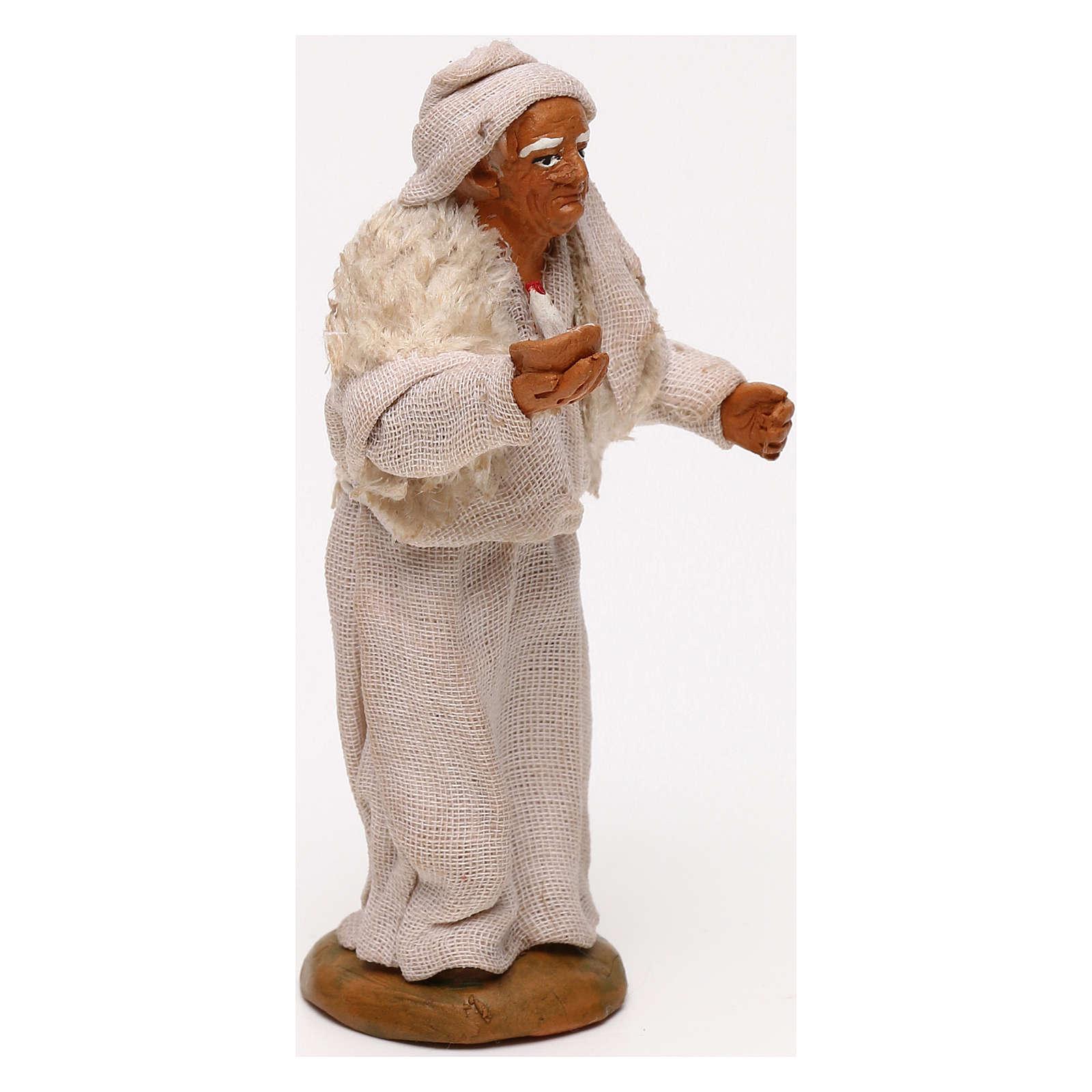 Vecchio con candela presepe napoletano 10 cm 4