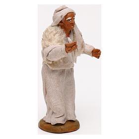 Vecchio con candela presepe napoletano 10 cm s3
