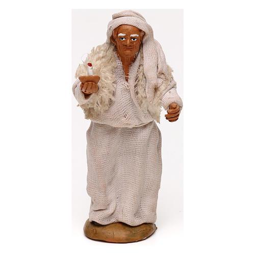 Vecchio con candela presepe napoletano 10 cm 1