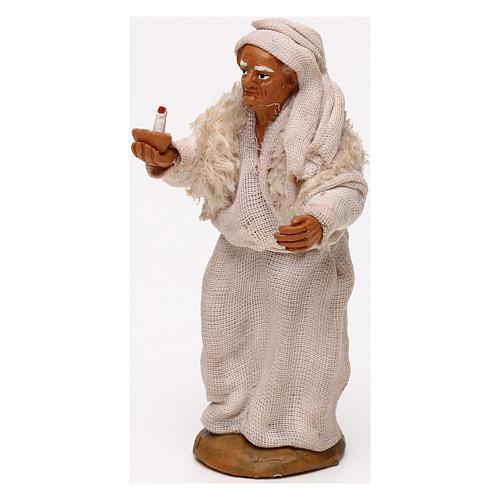 Vecchio con candela presepe napoletano 10 cm 2
