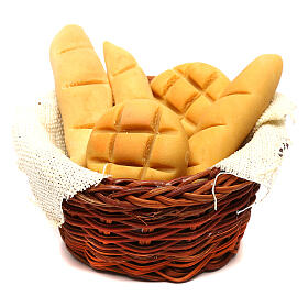 Bread basket, Neapolitan Nativity scene 24 cm s1