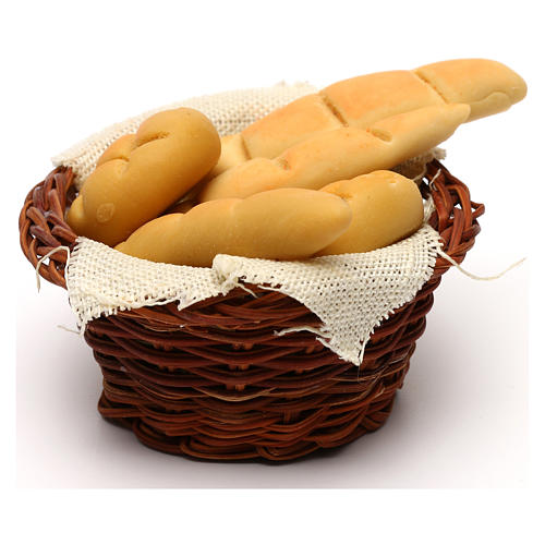 Bread basket, Neapolitan Nativity scene 24 cm 2