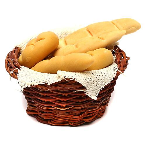 Bread basket, Neapolitan Nativity scene 24 cm 2