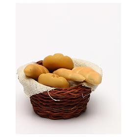 Cestino tondo di pane presepe napoletano 24 cm s3