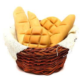 Cestino tondo di pane presepe napoletano 24 cm s1