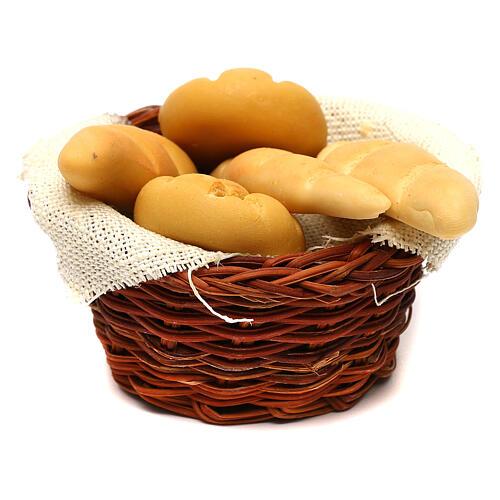 Cestino tondo di pane presepe napoletano 24 cm 3