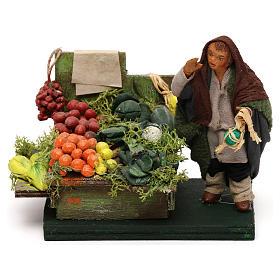 Fruttivendolo banco frutta e verdura presepe napoletano 10 cm s1