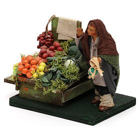 Fruttivendolo banco frutta e verdura presepe napoletano 10 cm s2