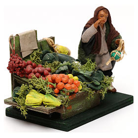Fruttivendolo banco frutta e verdura presepe napoletano 10 cm s3