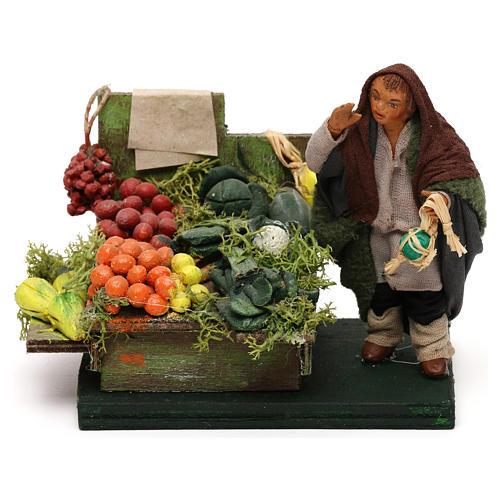 Fruttivendolo banco frutta e verdura presepe napoletano 10 cm 1