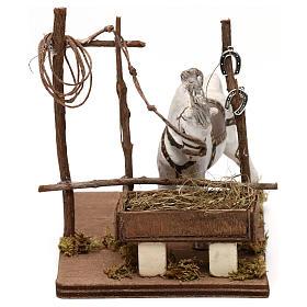 Horse with trough, Neapolitan Nativity scene 10 cm s1