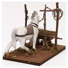 Horse with trough, Neapolitan Nativity scene 10 cm s4