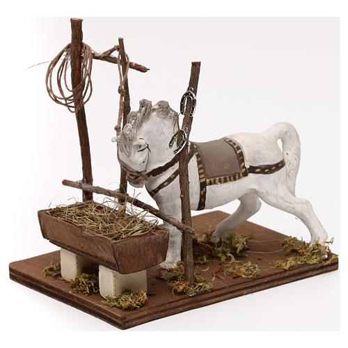 Horse with trough, Neapolitan Nativity scene 10 cm 2