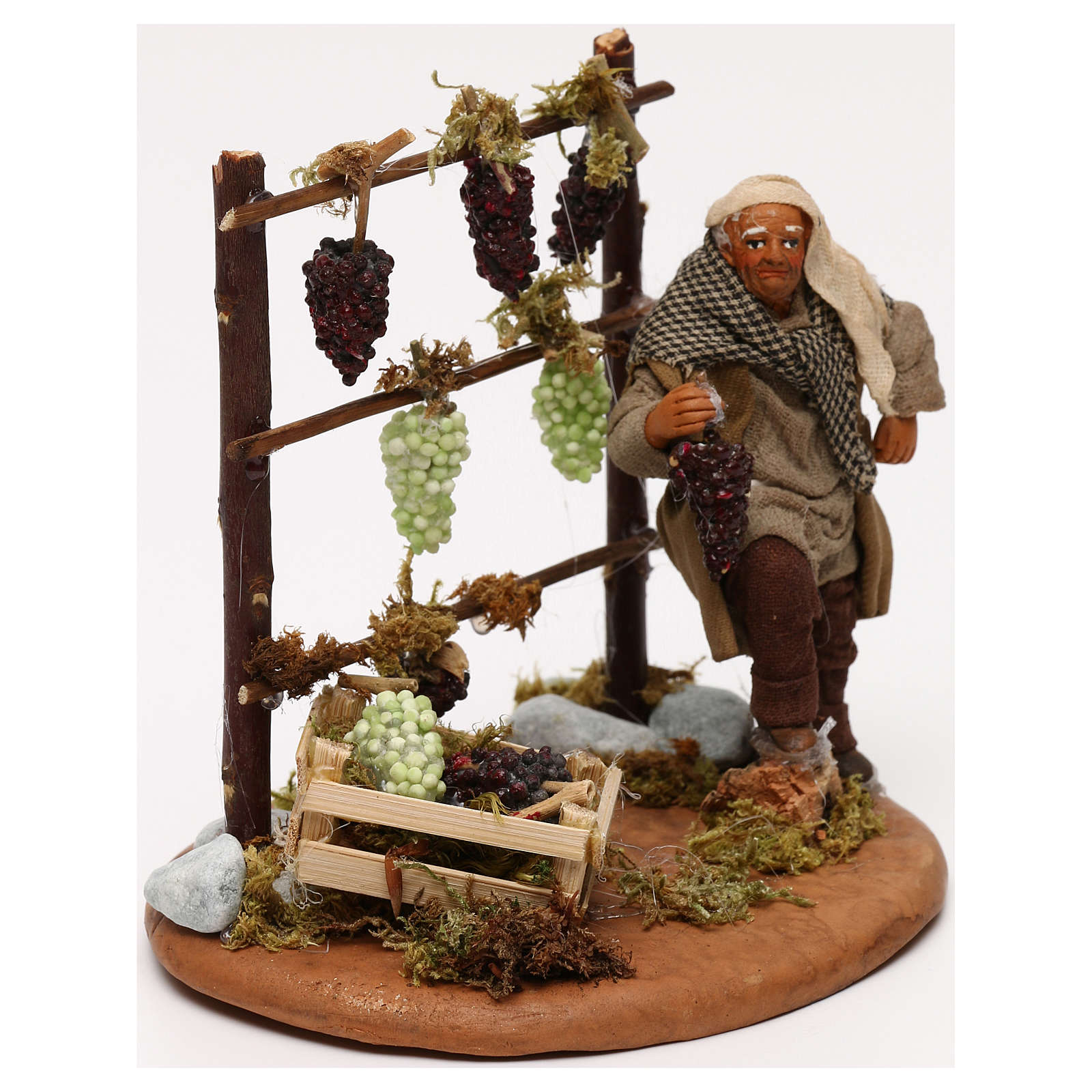 Man with vines, Neapolitan Nativity scene 10 cm 4