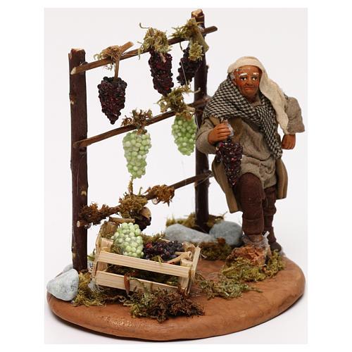 Man with vines, Neapolitan Nativity scene 10 cm 3