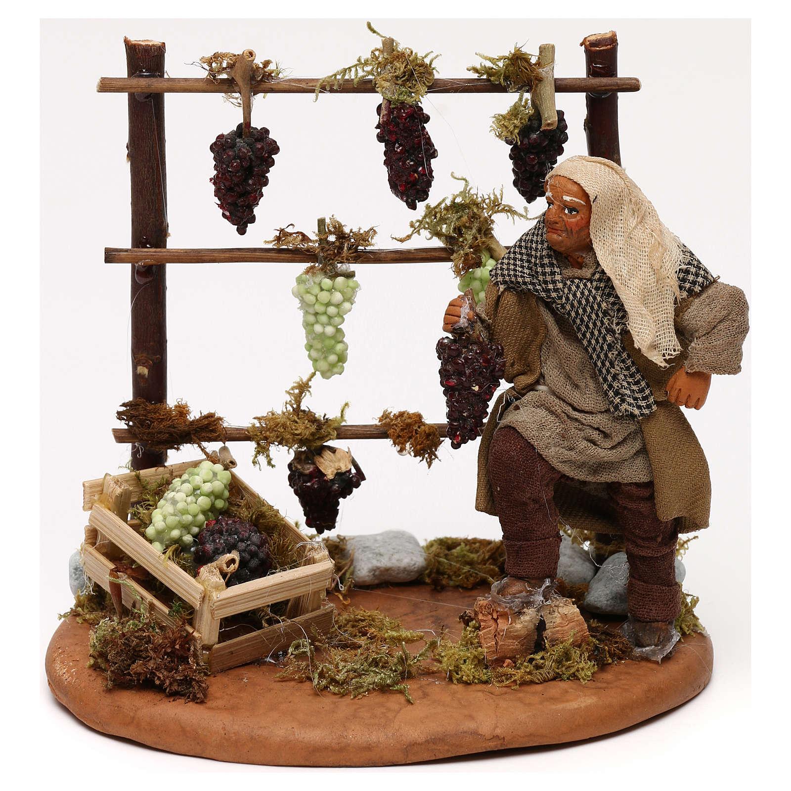 Viñedo con viticultor belén napolitano 10 cm 4