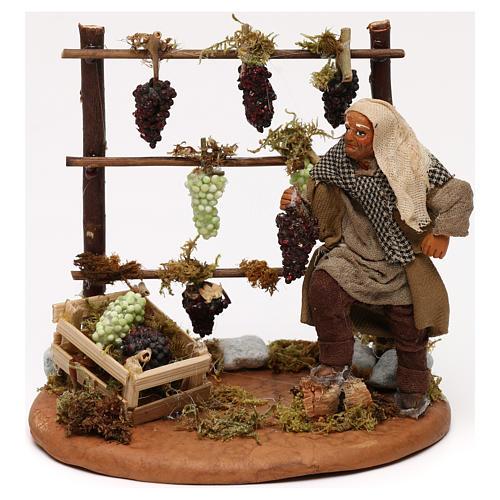 Viñedo con viticultor belén napolitano 10 cm 1