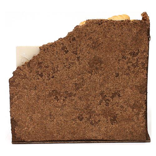 Scenetta panetteria presepe napoletano 13 cm 4