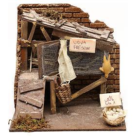 Henhouse setting, Neapolitan Nativity scene 13 cm s1