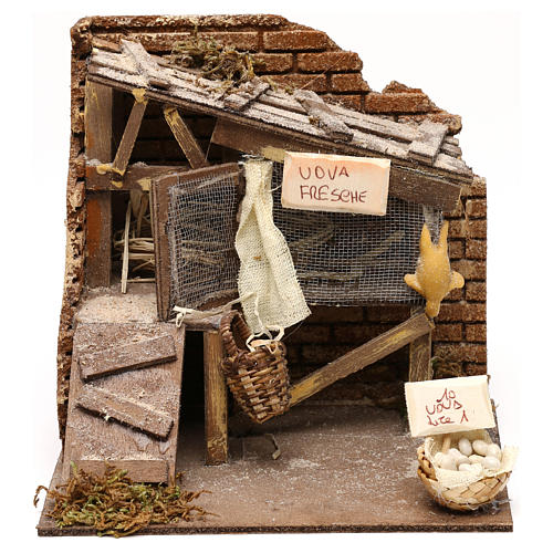 Henhouse setting, Neapolitan Nativity scene 13 cm 1
