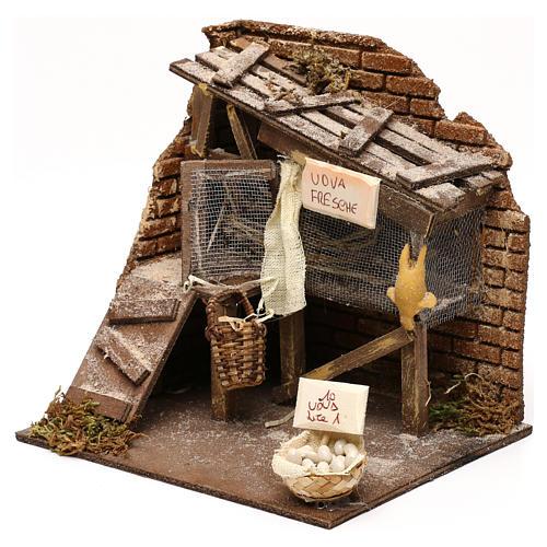 Henhouse setting, Neapolitan Nativity scene 13 cm 2