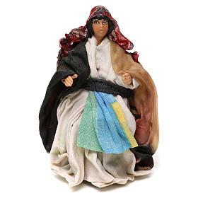 Neapolitan Nativity scene, sitting woman 12 cm s1