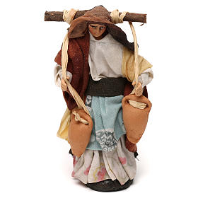 Neapolitan Nativity scene, woman with jars of water 12 cm s1