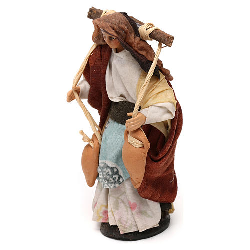 Neapolitan Nativity scene, woman with jars of water 12 cm 2