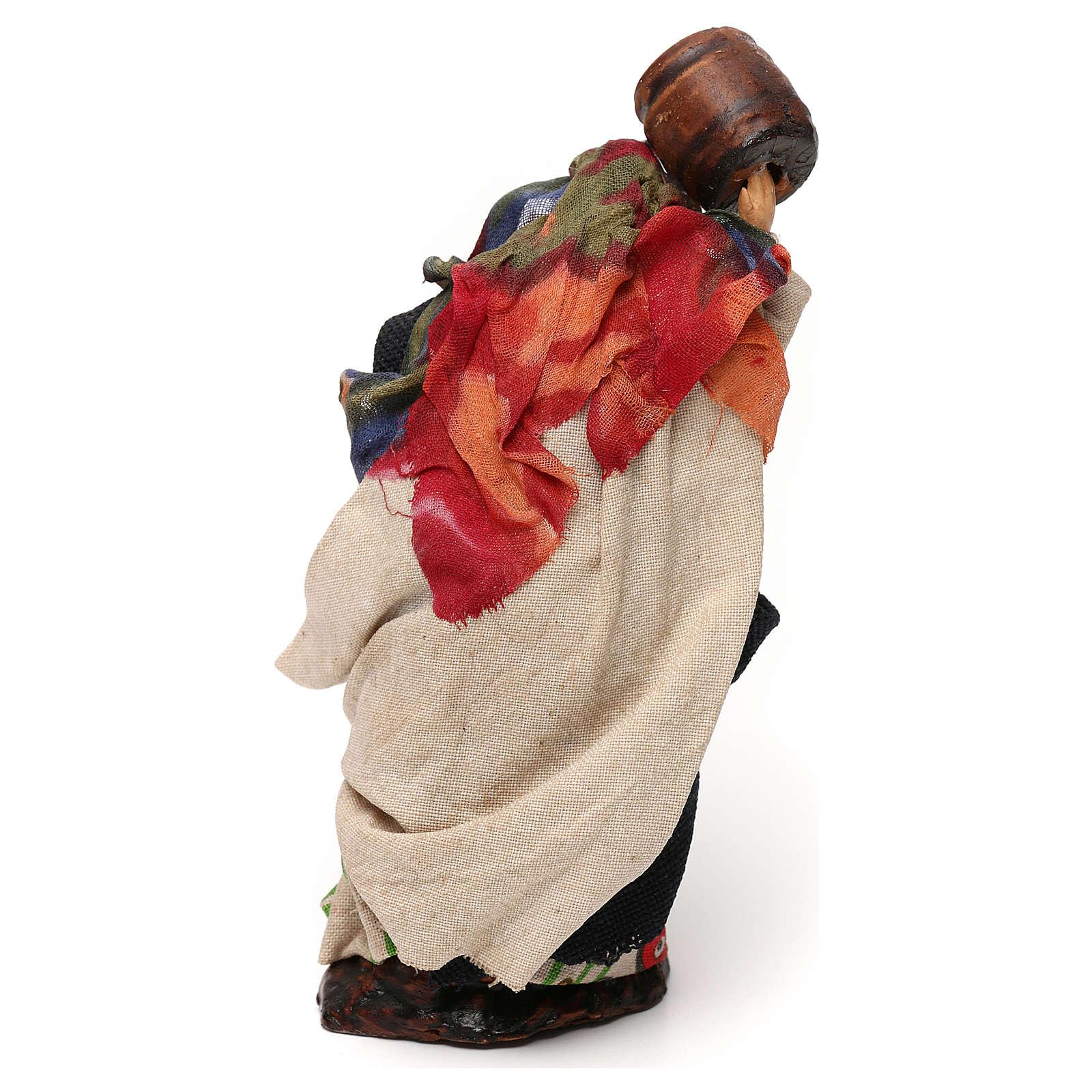 Neapolitan Nativity scene, woman with barrel 12 cm 4