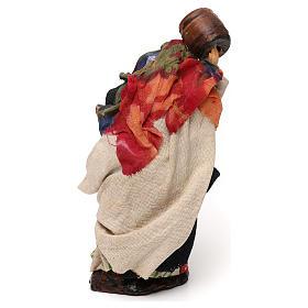 Neapolitan Nativity scene, woman with barrel 12 cm s3