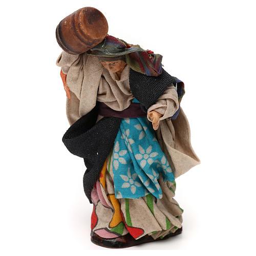 Neapolitan Nativity scene, woman with barrel 12 cm 2