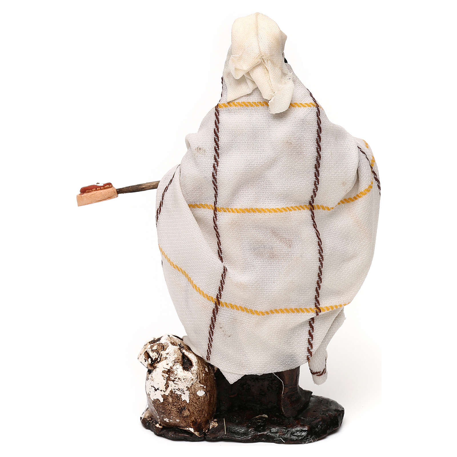 Neapolitan Nativity scene, pizza maker 12 cm 4