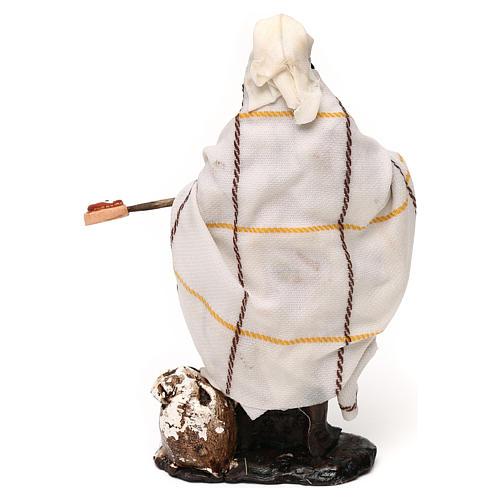 Neapolitan Nativity scene, pizza maker 12 cm 3