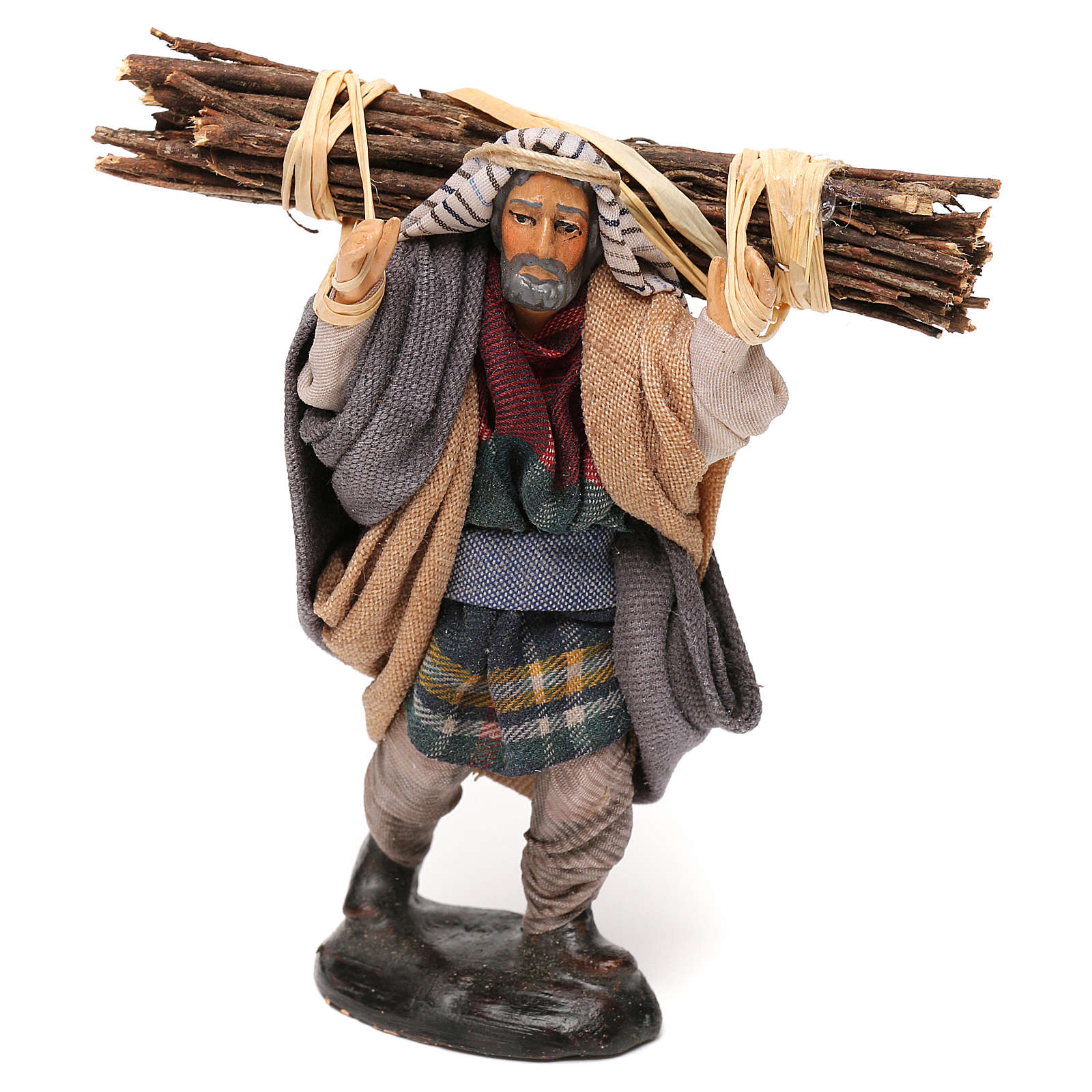 Neapolitan Nativity scene, woodcutter 12 cm 4