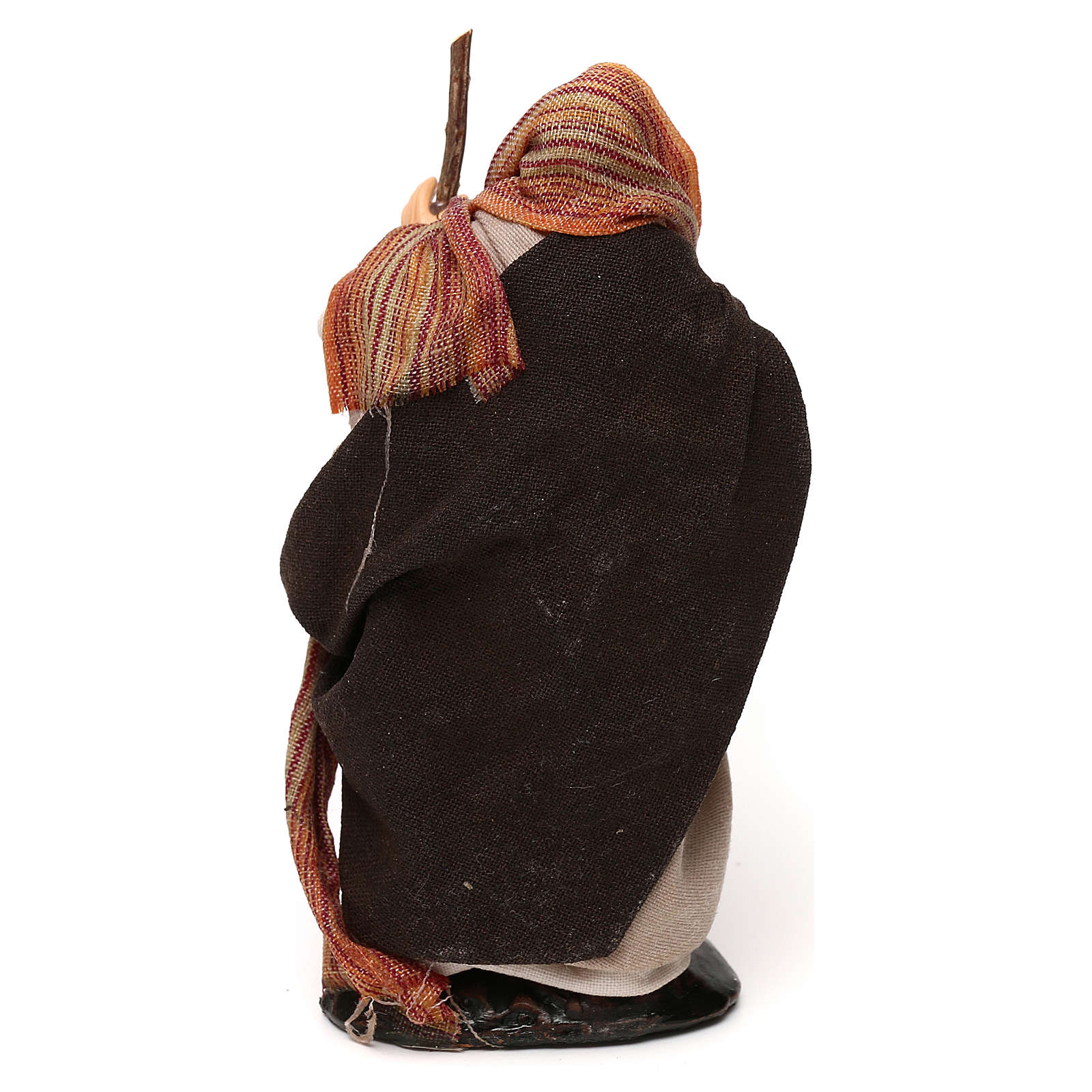 Heiliger Josef mit Stock 12cm neapolitanische Krippe 4