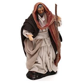 Heiliger Josef mit Stock 12cm neapolitanische Krippe s2