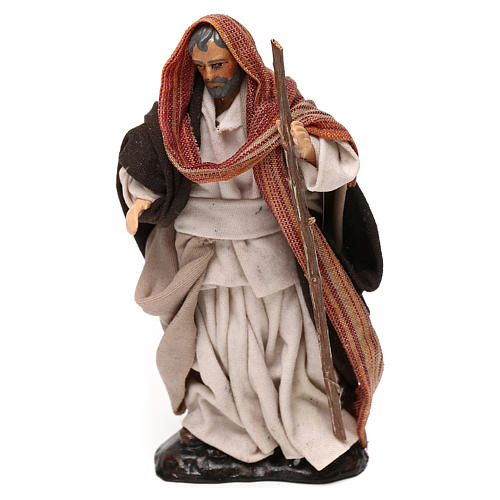 Heiliger Josef mit Stock 12cm neapolitanische Krippe 1
