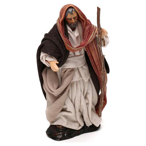 Heiliger Josef mit Stock 12cm neapolitanische Krippe 2