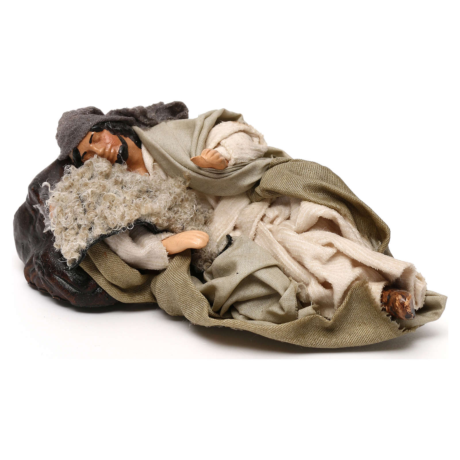 Neapolitan Nativity scene, Benino the sleeping shepherd 12 cm 4