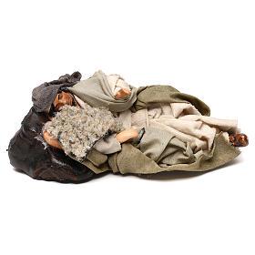 Neapolitan Nativity scene, Benino the sleeping shepherd 12 cm s1