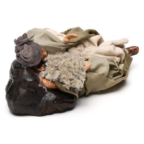 Neapolitan Nativity scene, Benino the sleeping shepherd 12 cm 3