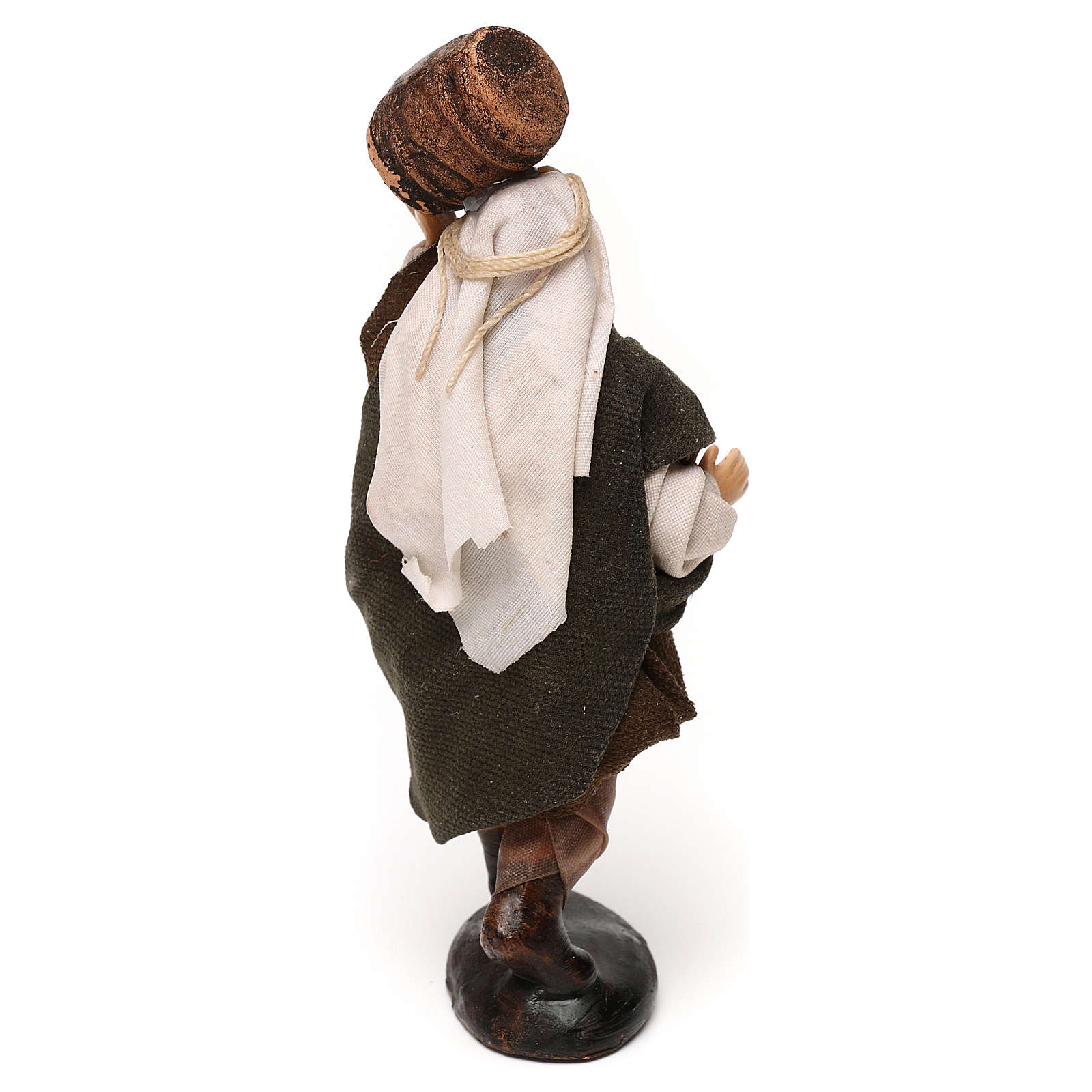 Neapolitan Nativity scene, man with barrel 12 cm 4