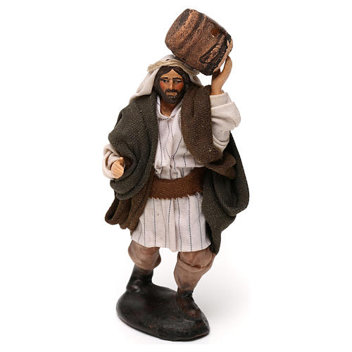 Neapolitan Nativity scene, man with barrel 12 cm 1