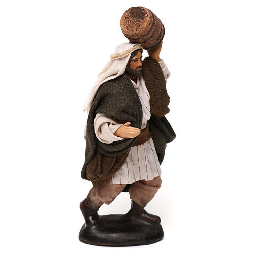 Neapolitan Nativity scene, man with barrel 12 cm 2