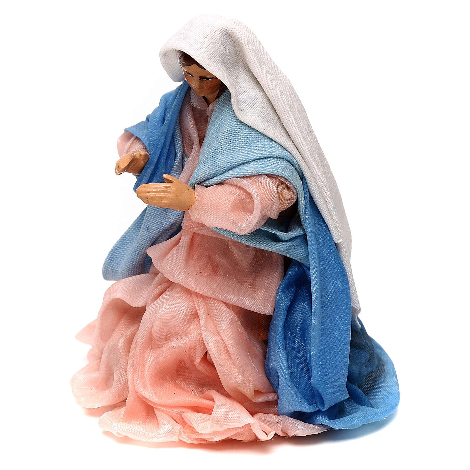 Madonna presepe napoletano 12 cm 4
